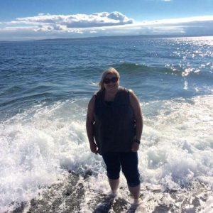 Jessica on the beach