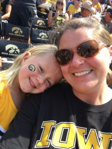 Jamie and Kinsley Hawkeyes
