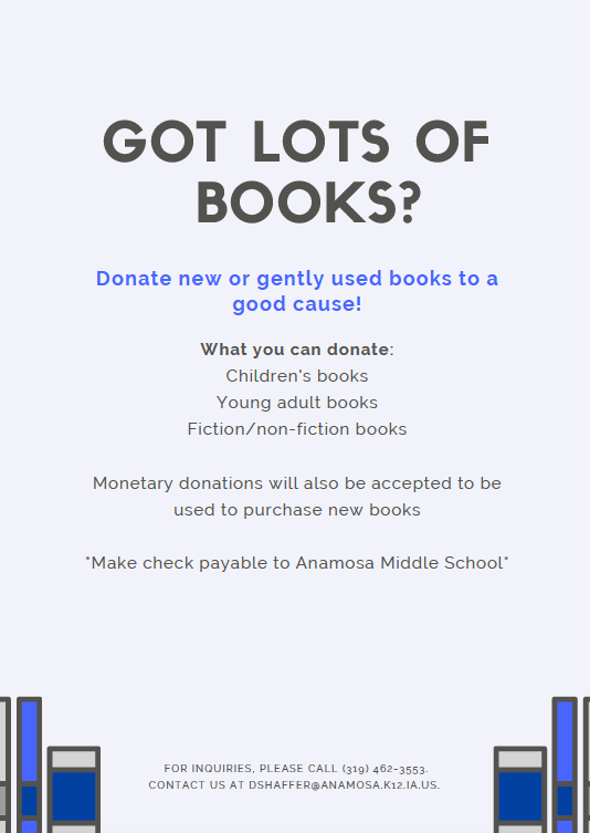 Book Donation Drive Page 2